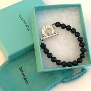 Tiffany & Co. Black Onyx Bead Bracelet (like new)